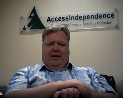 Video of Mike Shea on Access Independence